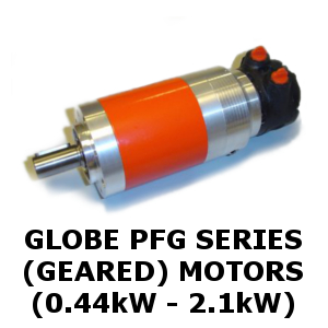 Globe PFG series geared Air Motors