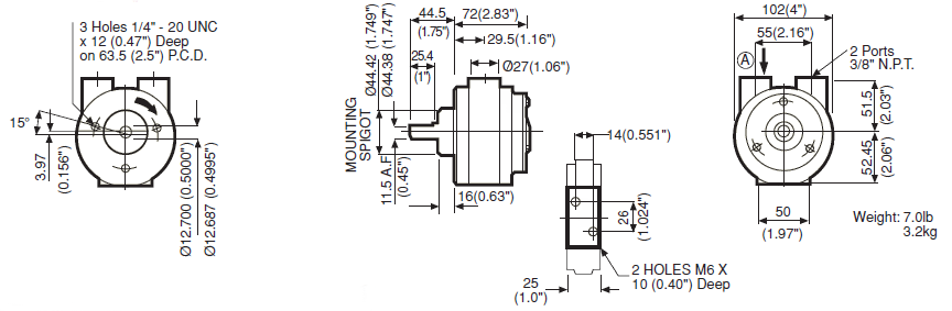 VA2X Diagram Dimensions