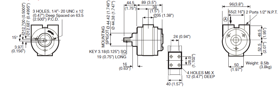 VA4X Diagram Dimensions