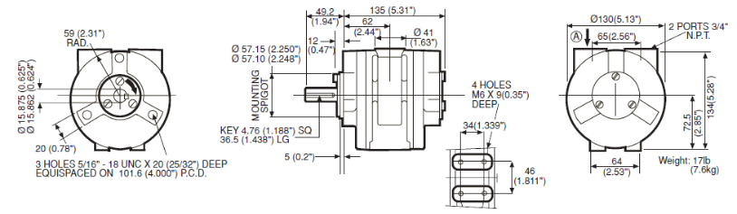 VA6X Diagram Dimensions