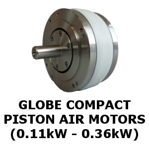 Globe Compact Piston Air Motors