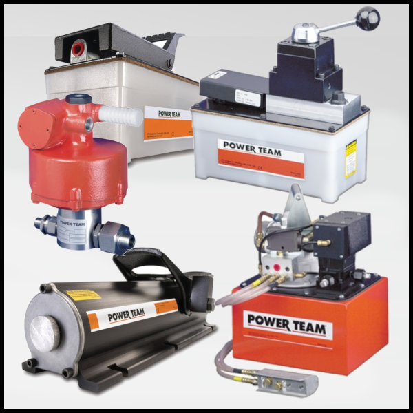 Power Team Air Powered Hydraulic Pumps