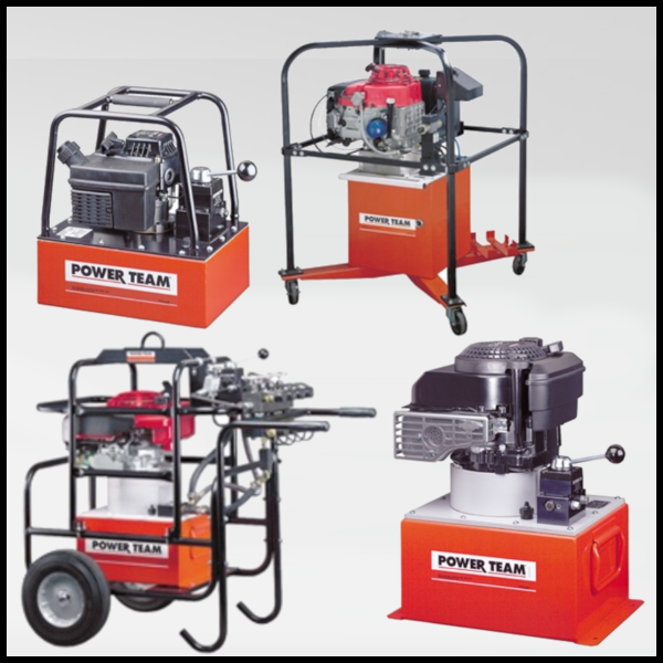 Power Team Petrol/ Gas Powered Hydraulic Pumps