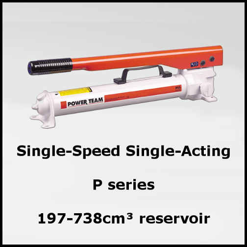 Single Speed Single Acting Hand Pumps