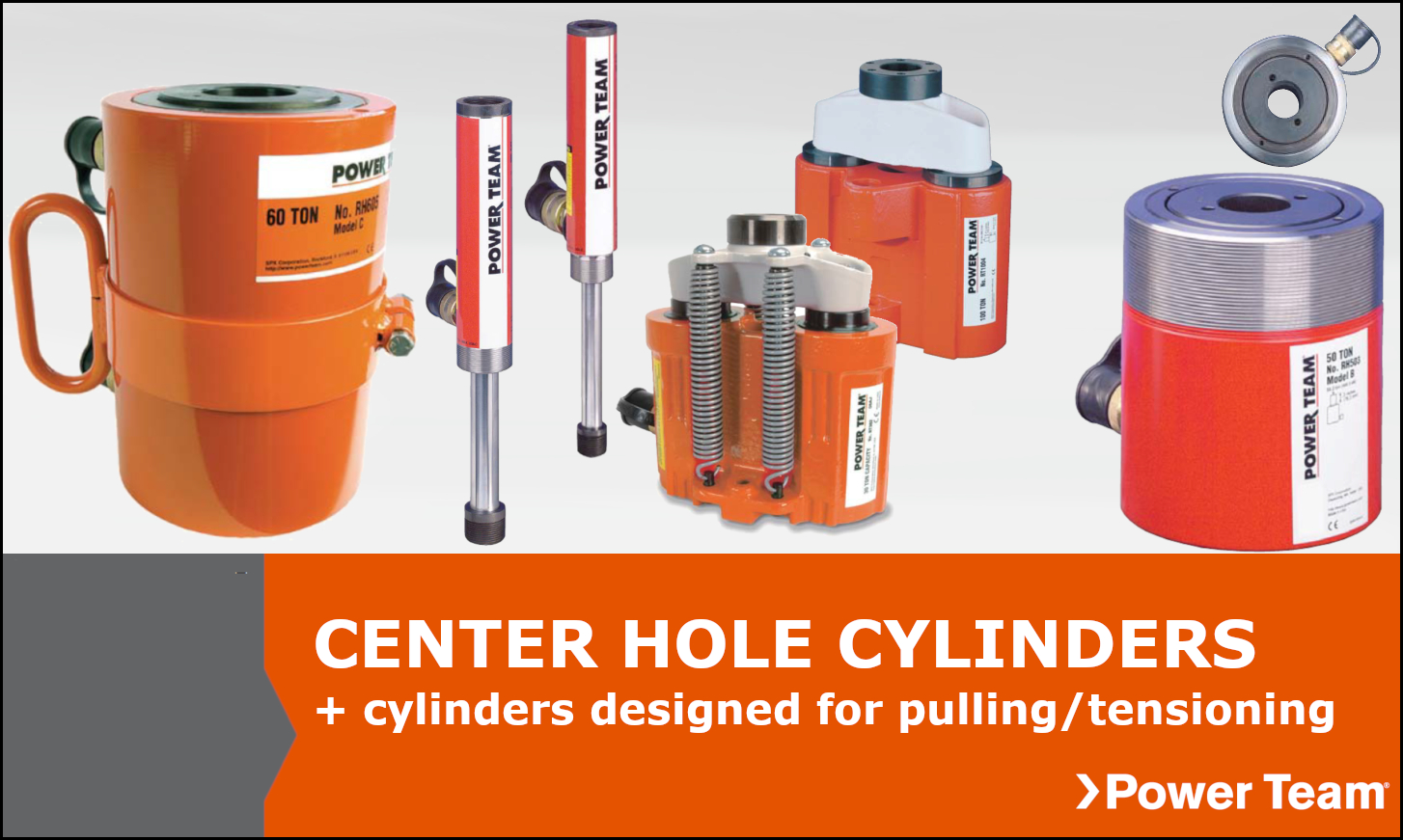 Center Hole Power Team Cylinders