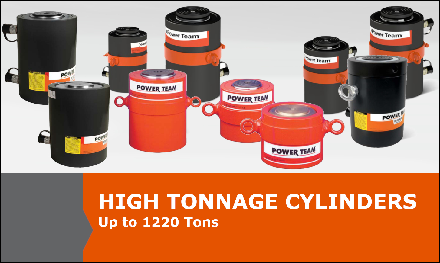 High Tonnage Power Team Cylinders